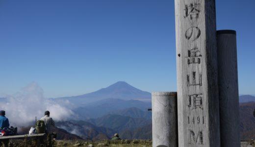 塔ノ岳~丹沢山:大倉尾根を登る