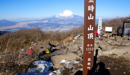 冬の金時山:金時神社から登って乙女峠を下る